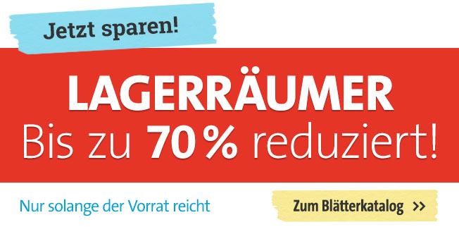 Lagerräumer bis zu 70% reduziert