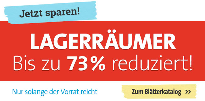 Lagerräumer bis zu 73% reduziert