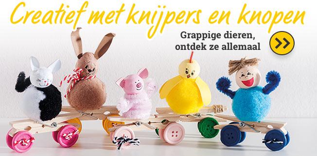 Creatief met knijpers en knopen