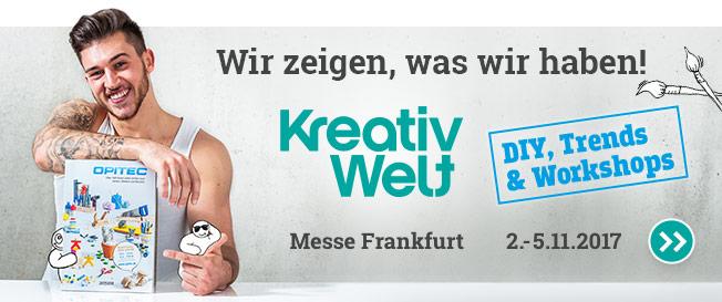 OPITEC auf der Kreativ Welt, Messe Frankfurt, 2.-5.11.2017