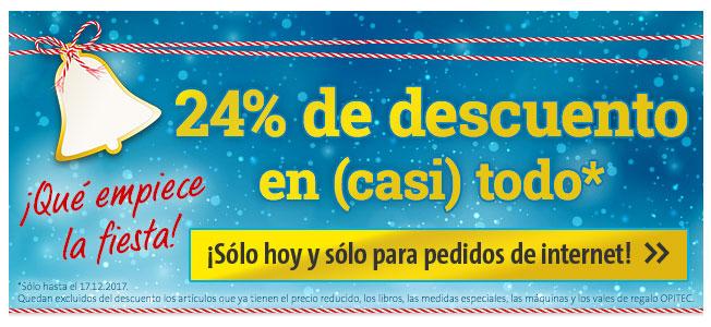 ¡Qué empiece la fiesta! 24% de descuento en (casi) todo - ¡Sólo hasta el 17.12.2017 y sólo para pedidos de internet!
