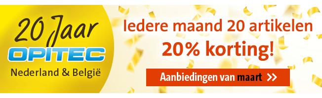 20 jaar OPITEC Nederland & Belgie