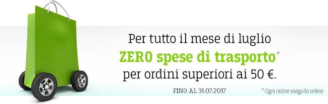 Zero spese di transporto ai 50 EUR