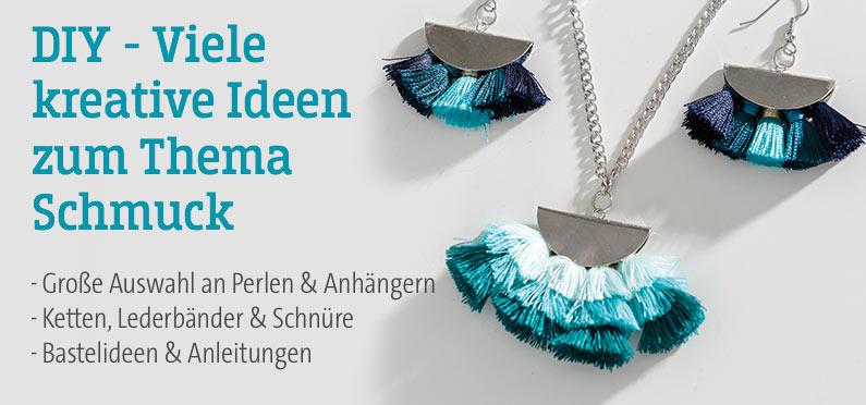 DIY - Viele kreative Ideen zum Thema Schmuck! Große Auswahl an Perlen & Anhängern,  Ketten, Lederbänder & Schnüre, Bastelideen & Anleitungen