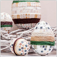 Easter Eggs Mosaic & Jute