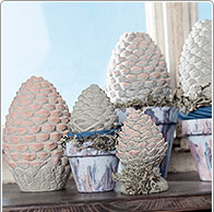 Instruction: Cement Pine Cones