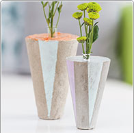 Instruction: Vase made from Creative Cement
