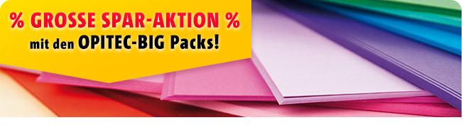 Große Spar-Aktion mit den OPITEC-BIG Packs!!