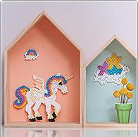 Idea creativa unicorno perline da stiro