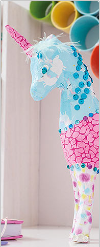 Idea creativa - Unicornio de Papel Art