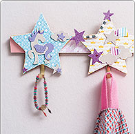 Idea creativa - Perchero con unicornio y estrellas