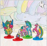 Idée de bricolage plastique magique licorne