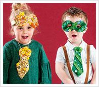 Instrucciones corbatas y gafas infantiles