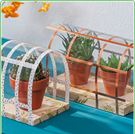 Mini-Gewächshaus für die Fensterbank