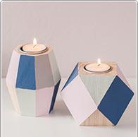 Holz-Teelichthalter