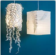 Lampions met papierdecoratie