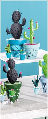 Metalen cactus