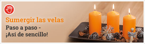 Sumergir las velas - paso a paso - así de sencillo:
