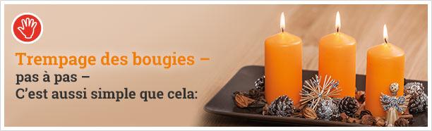 Trempage des bougies ? pas à pas ? C'est aussi simple que cela: