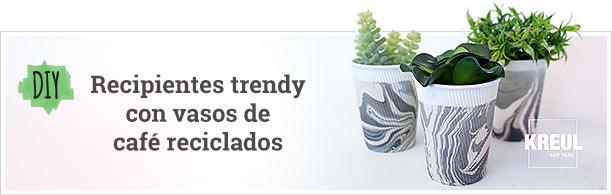 DIY - Portamacetas trendy con vasos de plástico