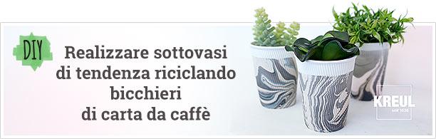 DIY - Sottovasi di tendenza riciclando bicchieri di carta da caffè