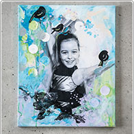 Mixed Media Collage avec un photo