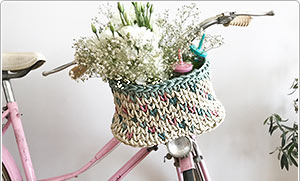 Cesta de ganchillo para le bici