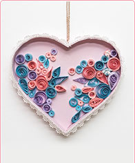 Quilling hart
