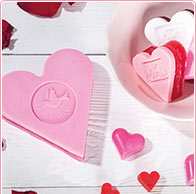 Bastelidee Herz-Labelseifen