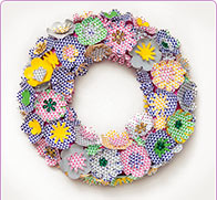 Floral wreath flower deco
