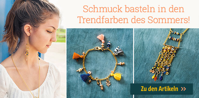 Schmuck basteln in den Trendfarben des Sommers! Made by me - Let`s make lovely jewellery!