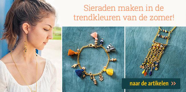 Sieraden maken in de trendkleuren van de zomer! Made by me - Let`s make lovely jewellery!