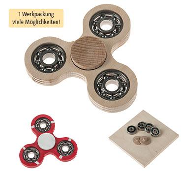 Werkpackung OPITEC Spinner Holz mit 1+3 Kugellagern