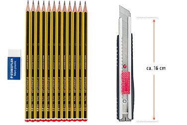 STAEDTLER Bleistift HB, 12er Pack + Radierer