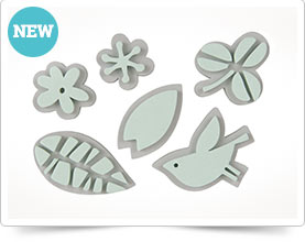 Foam rubber stamp - Flowers , 6 piece set