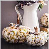 Pumpkins out of fabric
