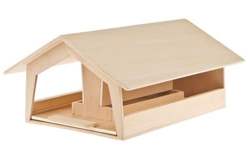 vogelhaus mit futterautomat opitec. Black Bedroom Furniture Sets. Home Design Ideas