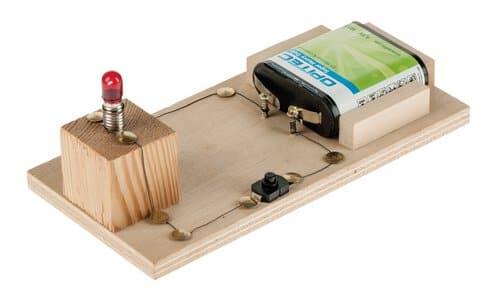 Circuito Electrico Basico : Circuito eléctrico básico años con pila opitec