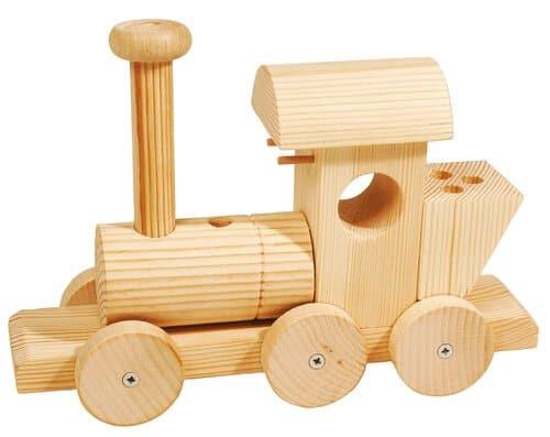 Organisateur de bureau en bois locomotive opitec