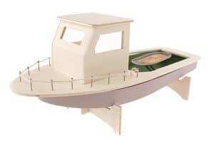 Bateau de pêcheur pétaradant, la pièce