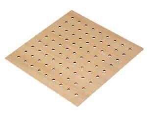 Base quadrata in legno per intrecci