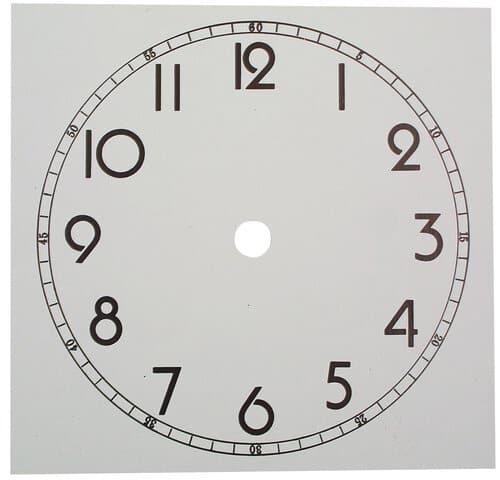 Циферблат для часов из картона