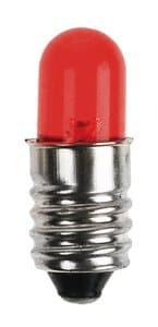 Ampoule E10 à LED 8 mm, rouge, la pièce