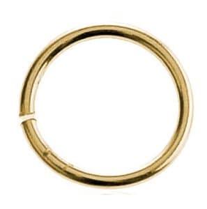 Anillas intermedias, de ø 12mm, 10 ud, oro