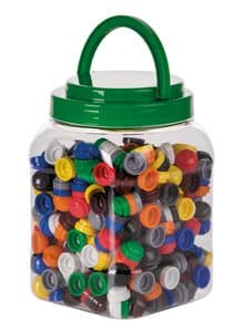 Dischetti impilabili di plastica, set da 500
