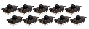Miniature slider switch, pack of 10
