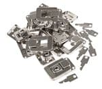 Koffersloten (33 x 54 mm) met sleutels, 10 stuks