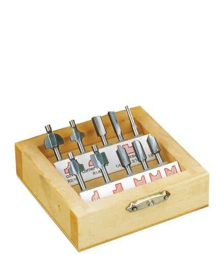 Juego de 10 fresas para madera eje 3 2 mm opitec - Fresas para madera ...