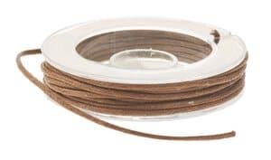 Cordón imitación cuero, ø 1 mm, 5 m, marrón claro