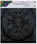 Sticker - Mandala 3, ca. 190 x 205 mm, nero